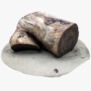 소박한 나무 그루터기 1 3d model