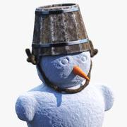 Christmas SnowMan (3 w 1) 3d model