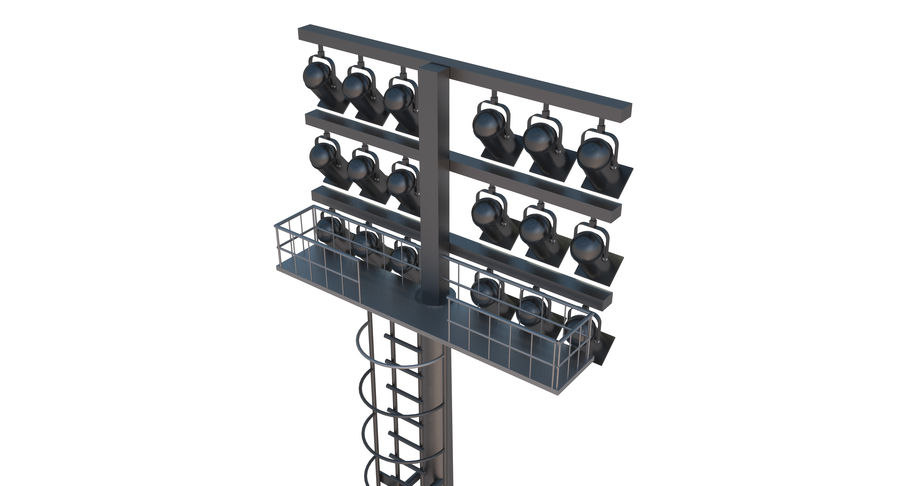 Stadium Light royalty-free 3d model - Preview no. 6