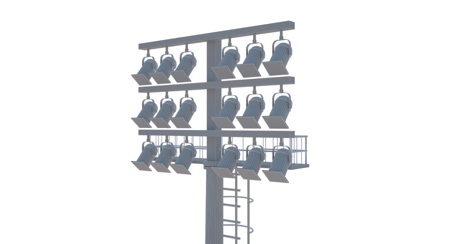 Stadium Light royalty-free 3d model - Preview no. 13