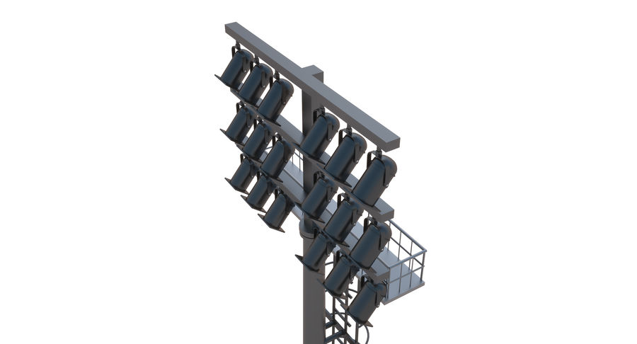 Stadium Light royalty-free 3d model - Preview no. 8