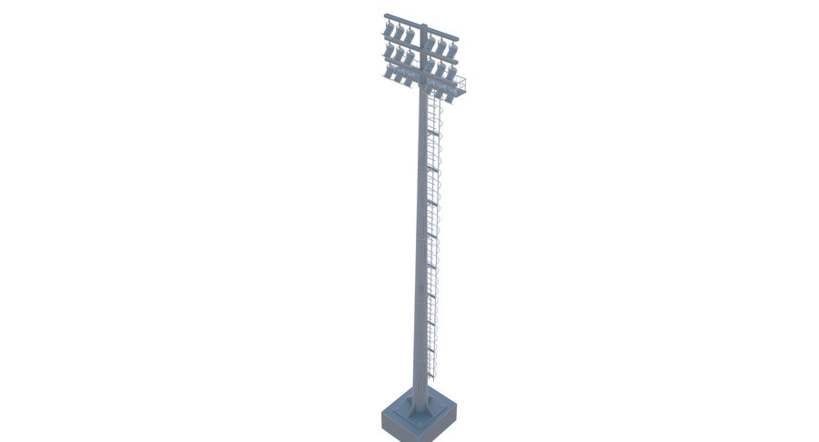 Stadium Light royalty-free 3d model - Preview no. 12
