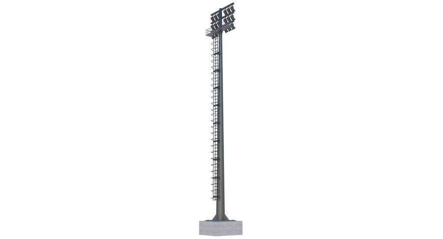 Stadium Light royalty-free 3d model - Preview no. 4