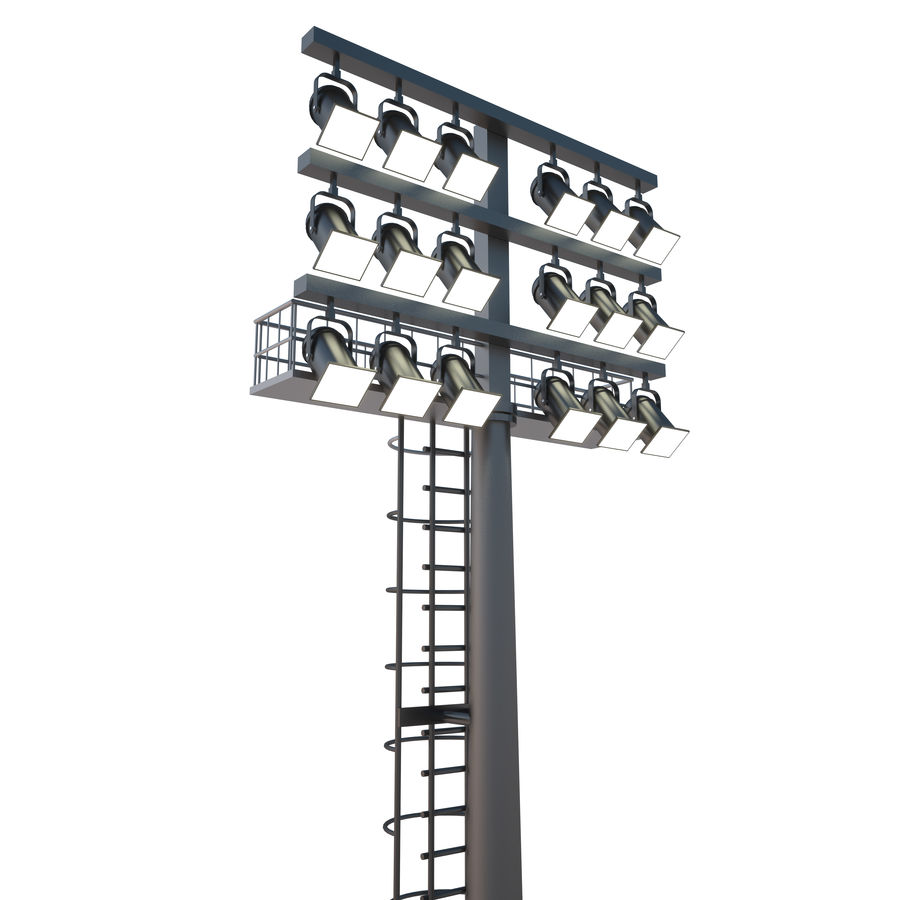 Stadium Light royalty-free 3d model - Preview no. 1