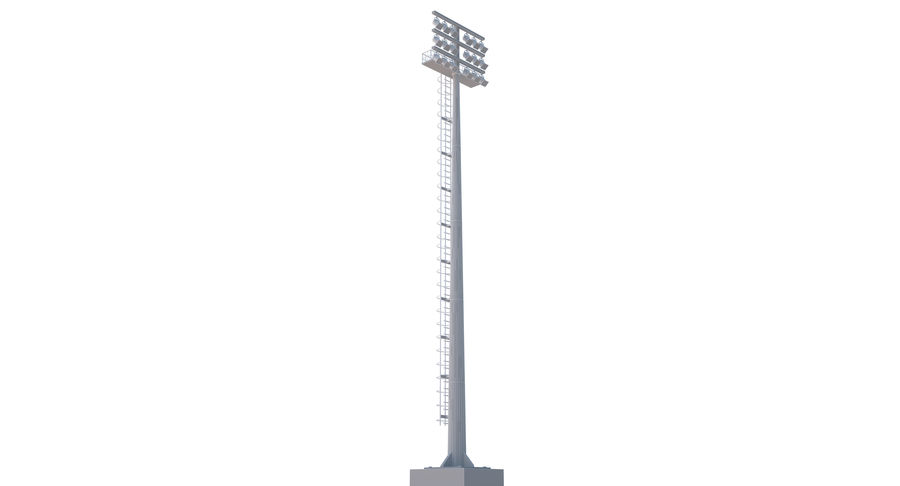 Stadium Light royalty-free 3d model - Preview no. 15