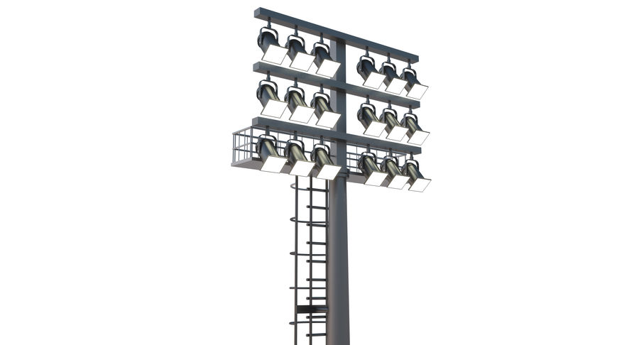 Stadium Light royalty-free 3d model - Preview no. 2