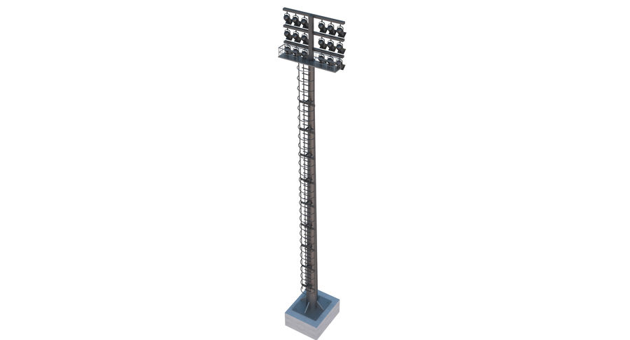 Stadium Light royalty-free 3d model - Preview no. 5