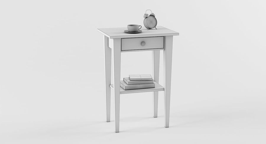 Hemnes Table De Chevet royalty-free 3d model - Preview no. 4