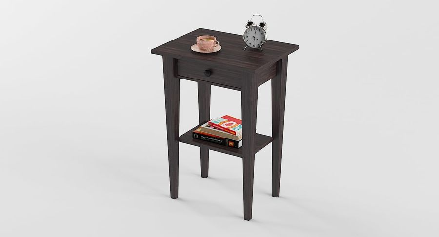 Hemnes Table De Chevet royalty-free 3d model - Preview no. 2