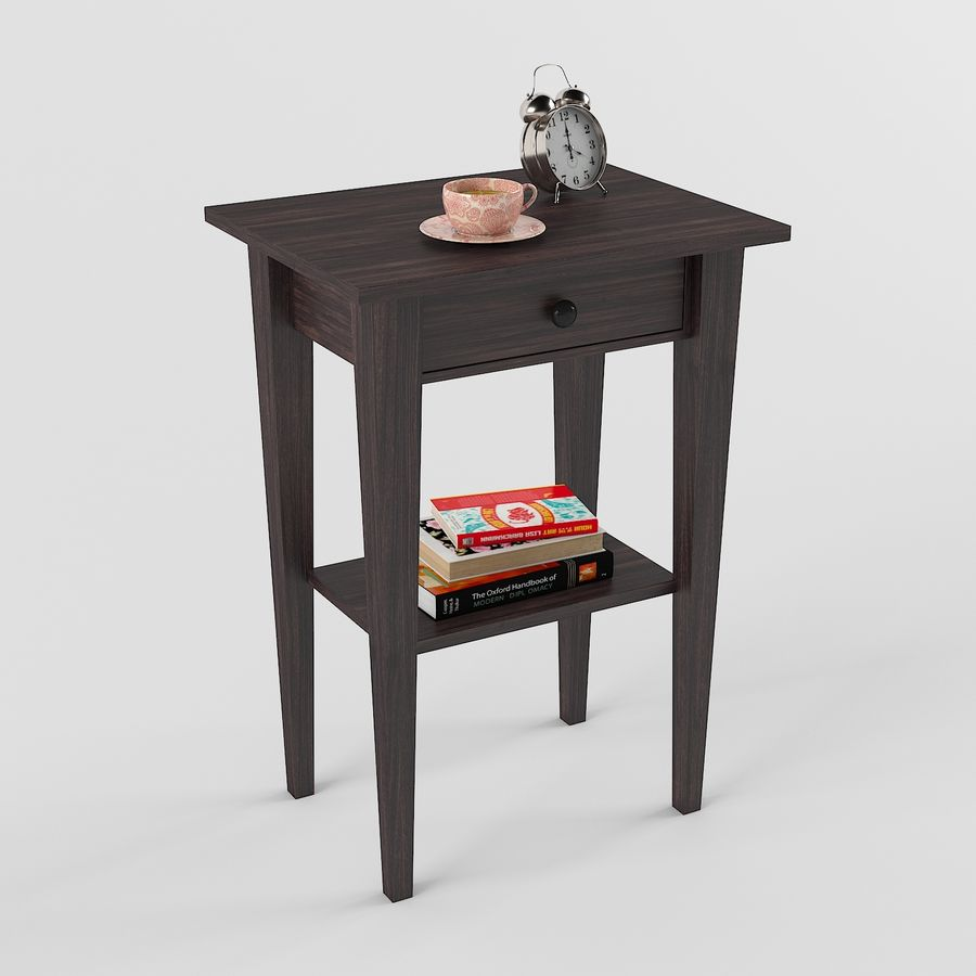 Hemnes Table De Chevet royalty-free 3d model - Preview no. 1