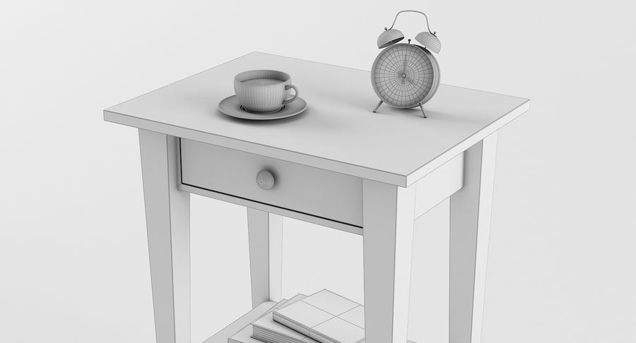 Hemnes Table De Chevet royalty-free 3d model - Preview no. 5