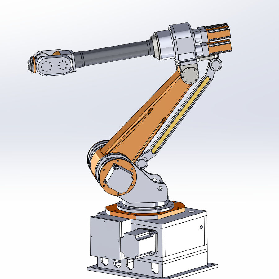 6 axis robots royalty-free 3d model - Preview no. 8