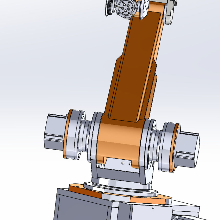 6 axis robots royalty-free 3d model - Preview no. 7