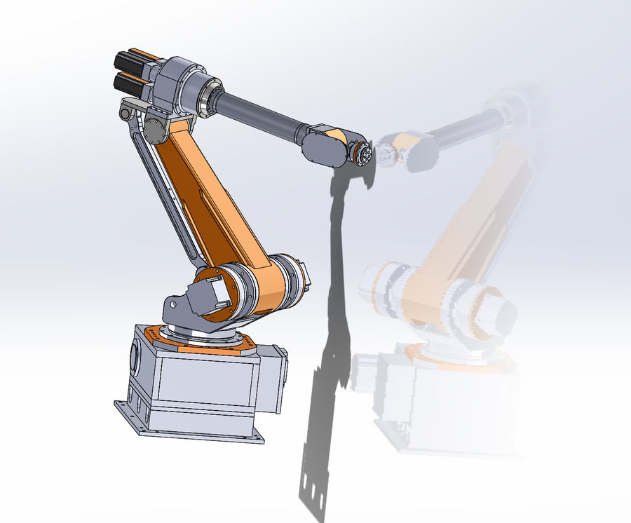 6 axis robots royalty-free 3d model - Preview no. 2