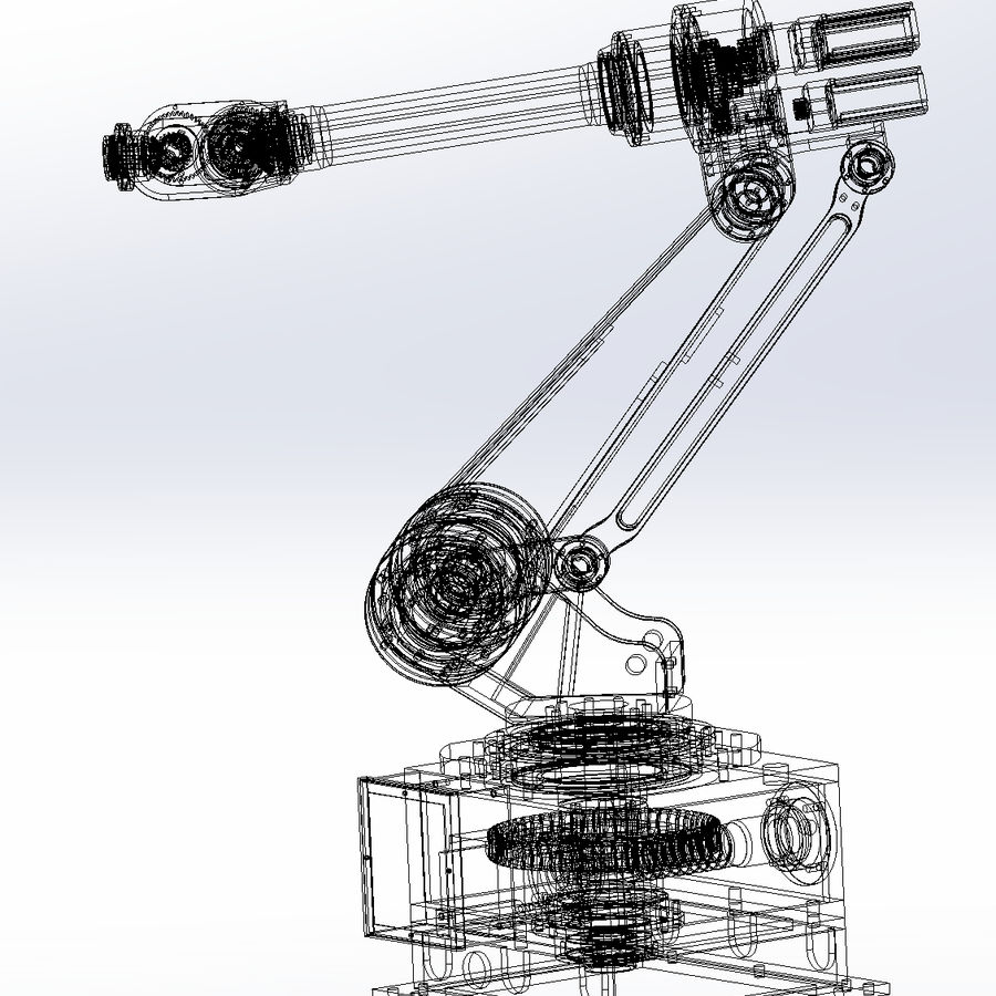 6 axis robots royalty-free 3d model - Preview no. 10