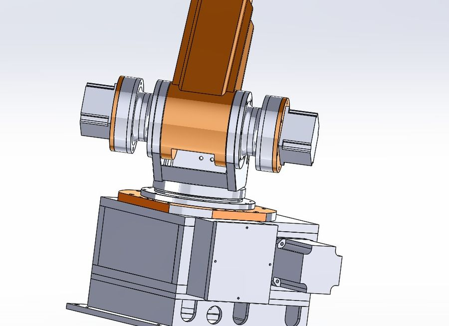 6 axis robots royalty-free 3d model - Preview no. 6