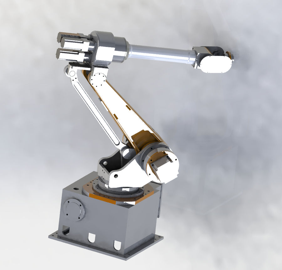 6 axis robots royalty-free 3d model - Preview no. 1