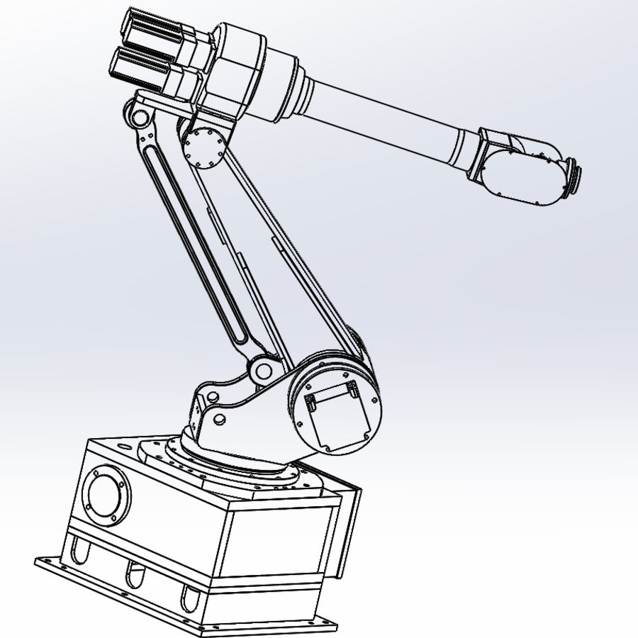 6 axis robots royalty-free 3d model - Preview no. 9