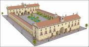 역사적인 수도원 3d model