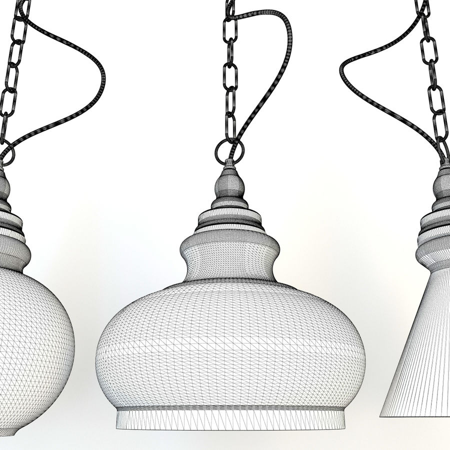 Glas & Holz Lampe royalty-free 3d model - Preview no. 8