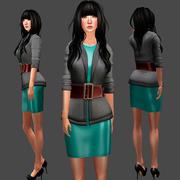 Sweater Dress Set 3d model