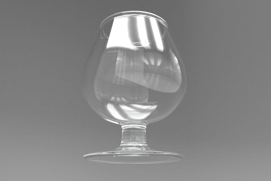 Glass Cognac royalty-free 3d model - Preview no. 6