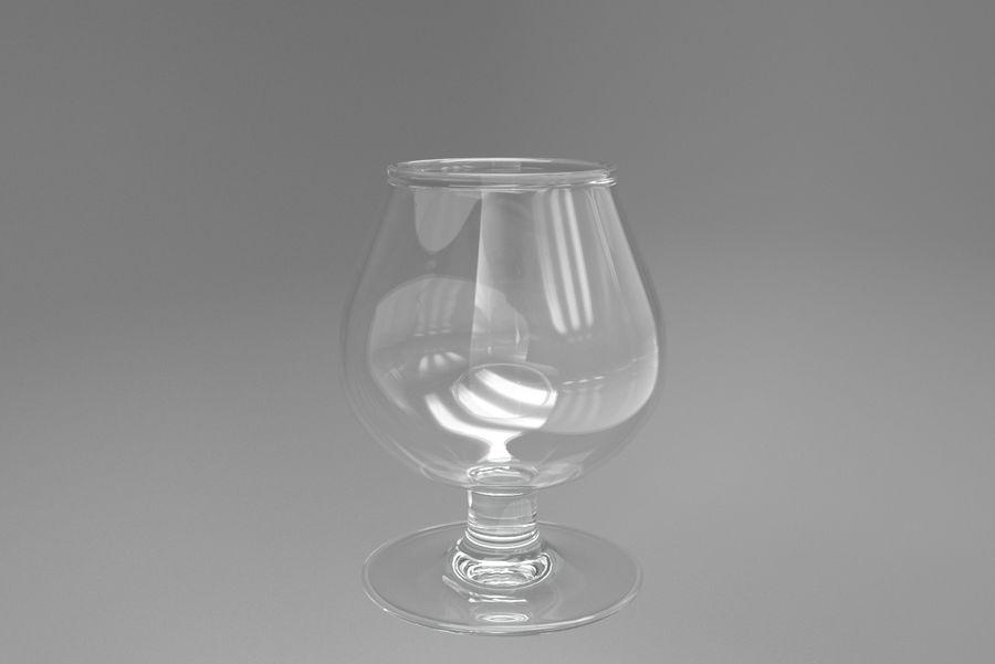 Glass Cognac royalty-free 3d model - Preview no. 5