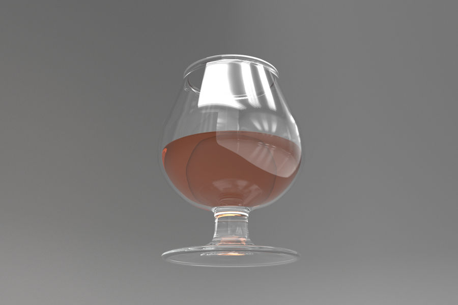 Glass Cognac royalty-free 3d model - Preview no. 4