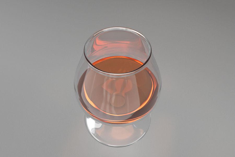 Glass Cognac royalty-free 3d model - Preview no. 3
