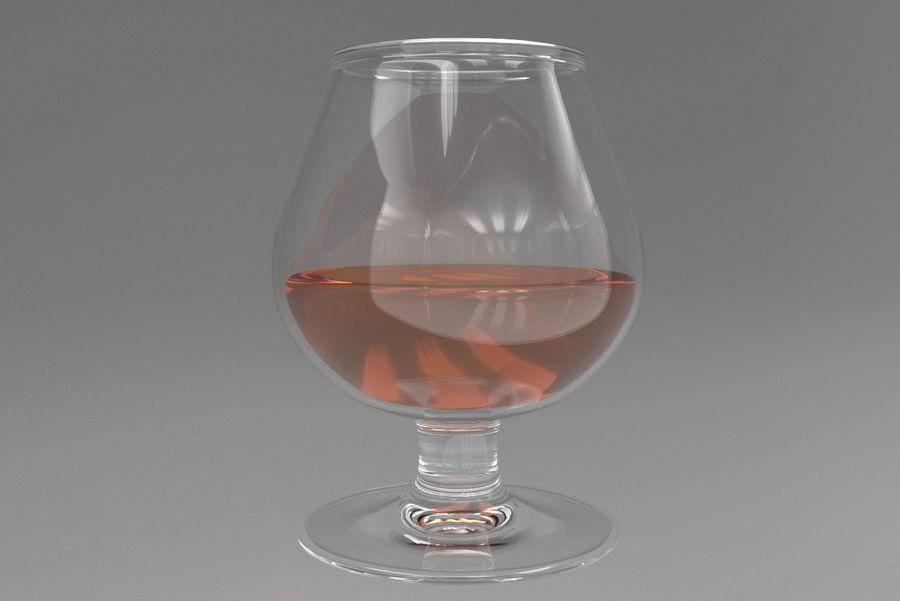 Glass Cognac royalty-free 3d model - Preview no. 2