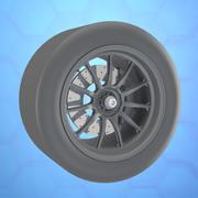 McLaren wheels tire 3d model