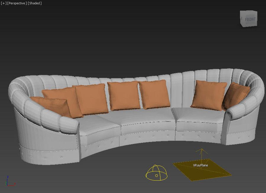 곡선 소파 royalty-free 3d model - Preview no. 6