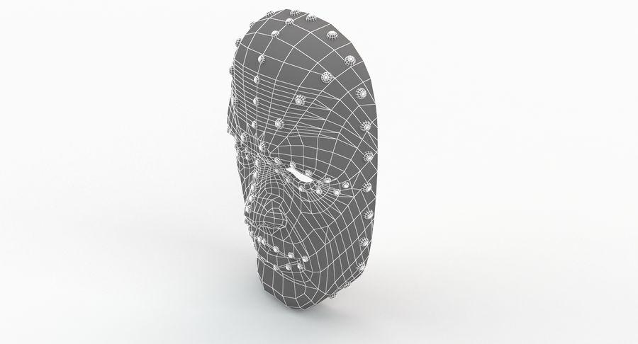 金属面具V1 royalty-free 3d model - Preview no. 13