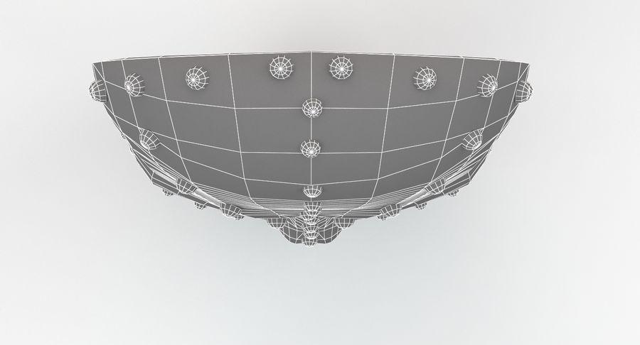 金属面具V1 royalty-free 3d model - Preview no. 14