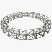 Estrutura de construção redonda 3d model