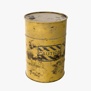 Barrel / Yellow Caution 3d model