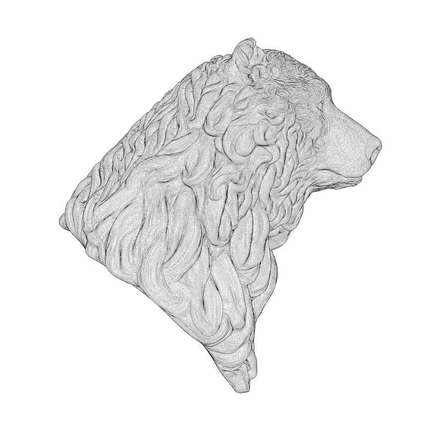 Cabeça de urso encaracolada royalty-free 3d model - Preview no. 8