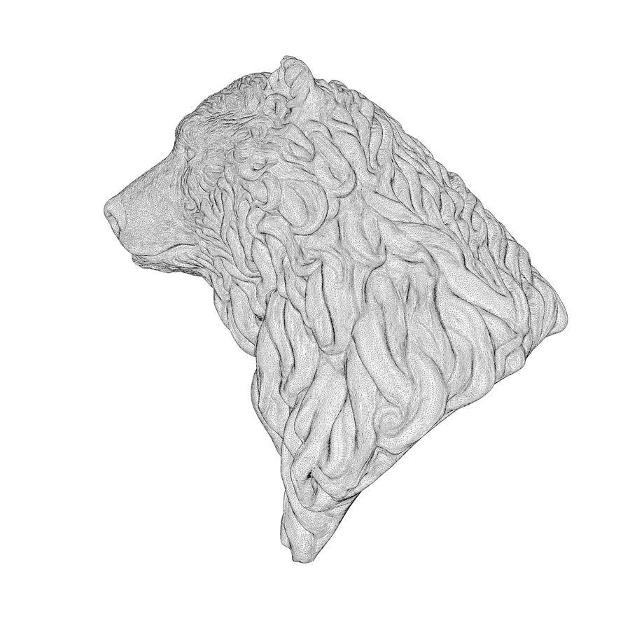 Cabeça de urso encaracolada royalty-free 3d model - Preview no. 7