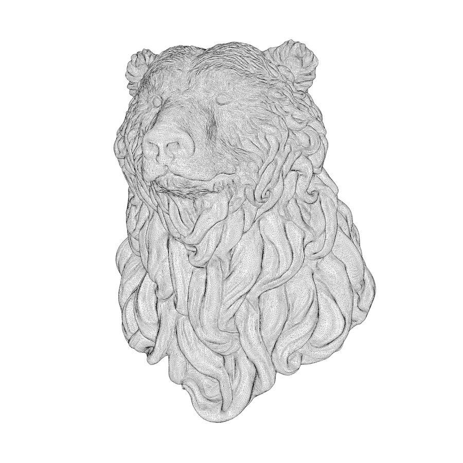Cabeça de urso encaracolada royalty-free 3d model - Preview no. 6