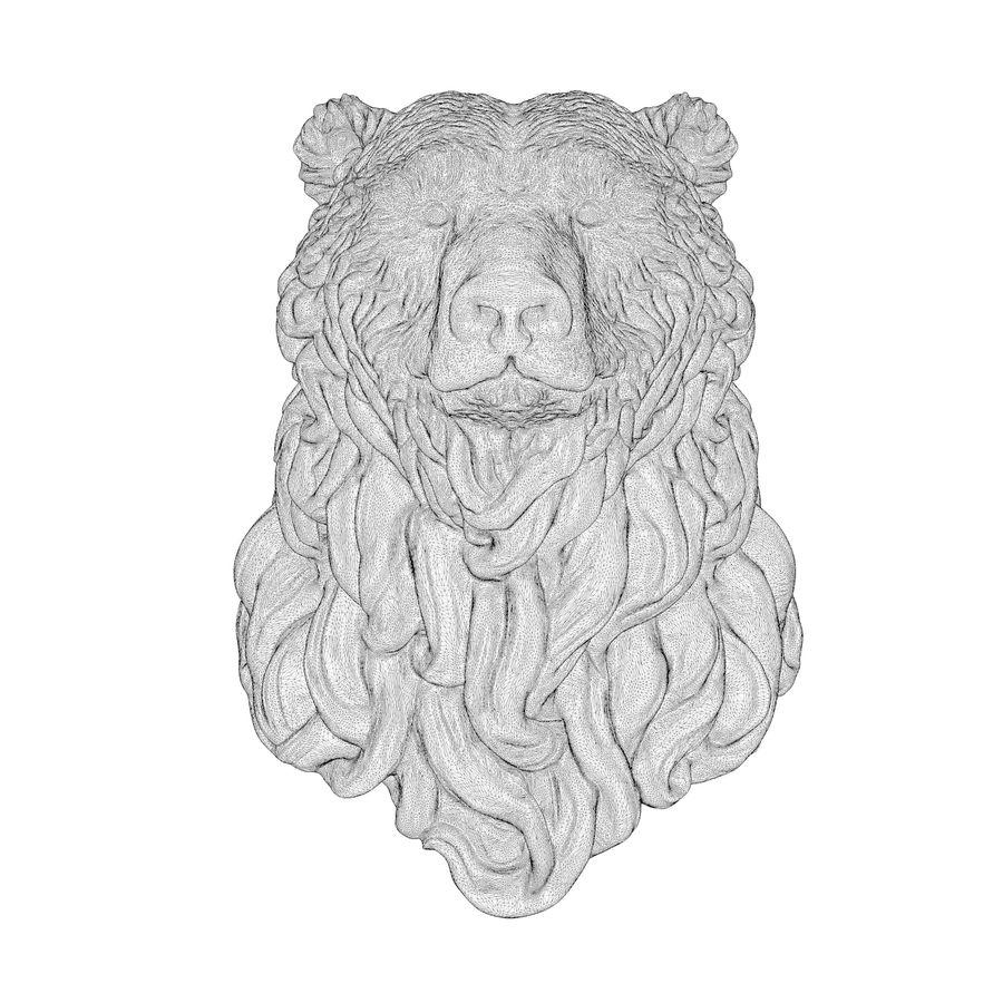 Cabeça de urso encaracolada royalty-free 3d model - Preview no. 9