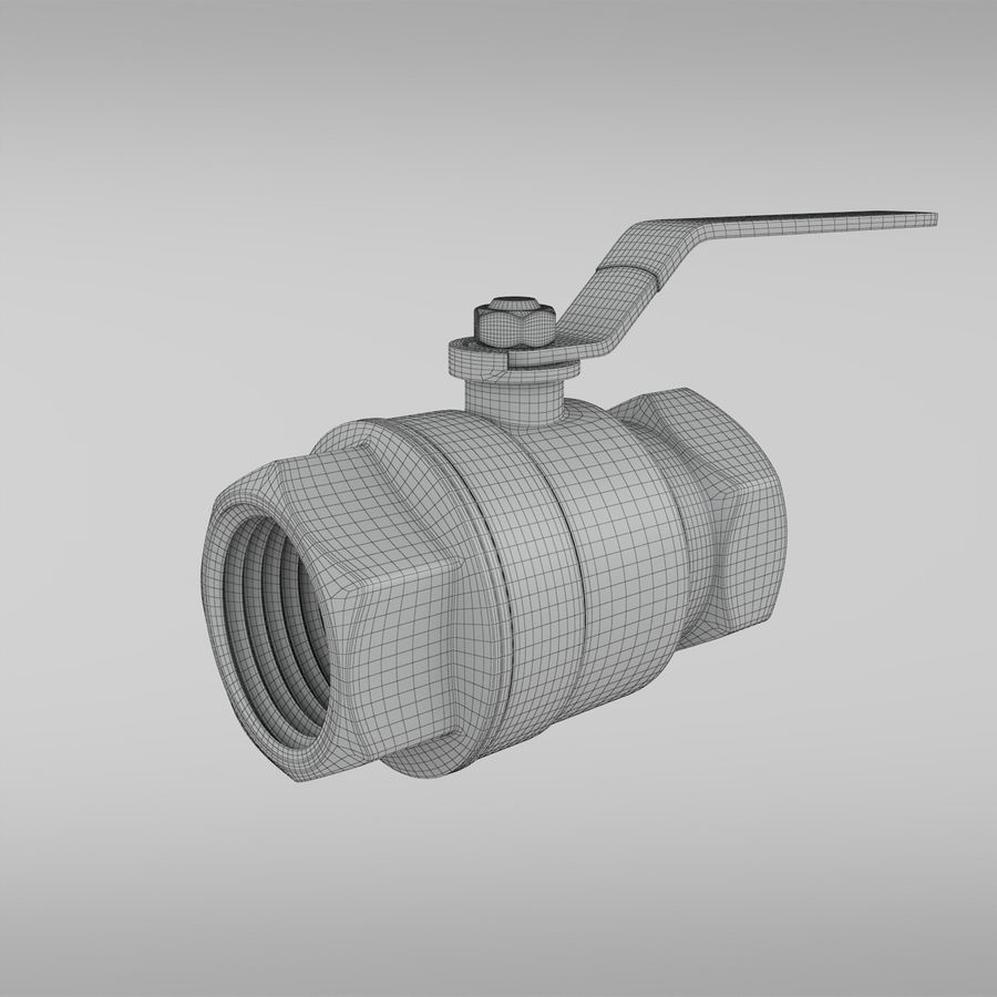 Valve royalty-free 3d model - Preview no. 3