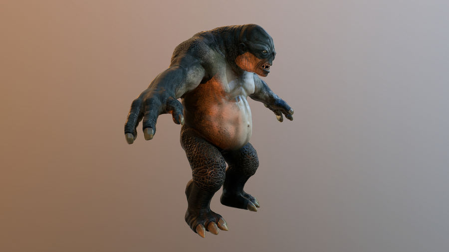 Jaskiniowy troll royalty-free 3d model - Preview no. 5