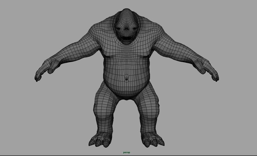 Jaskiniowy troll royalty-free 3d model - Preview no. 8