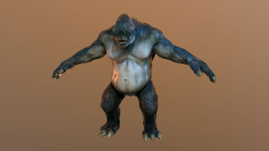 Jaskiniowy troll royalty-free 3d model - Preview no. 2