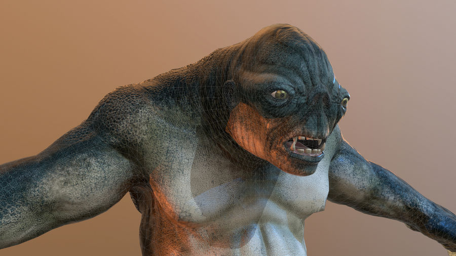 Jaskiniowy troll royalty-free 3d model - Preview no. 7