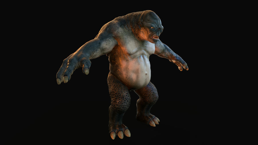 Jaskiniowy troll royalty-free 3d model - Preview no. 3