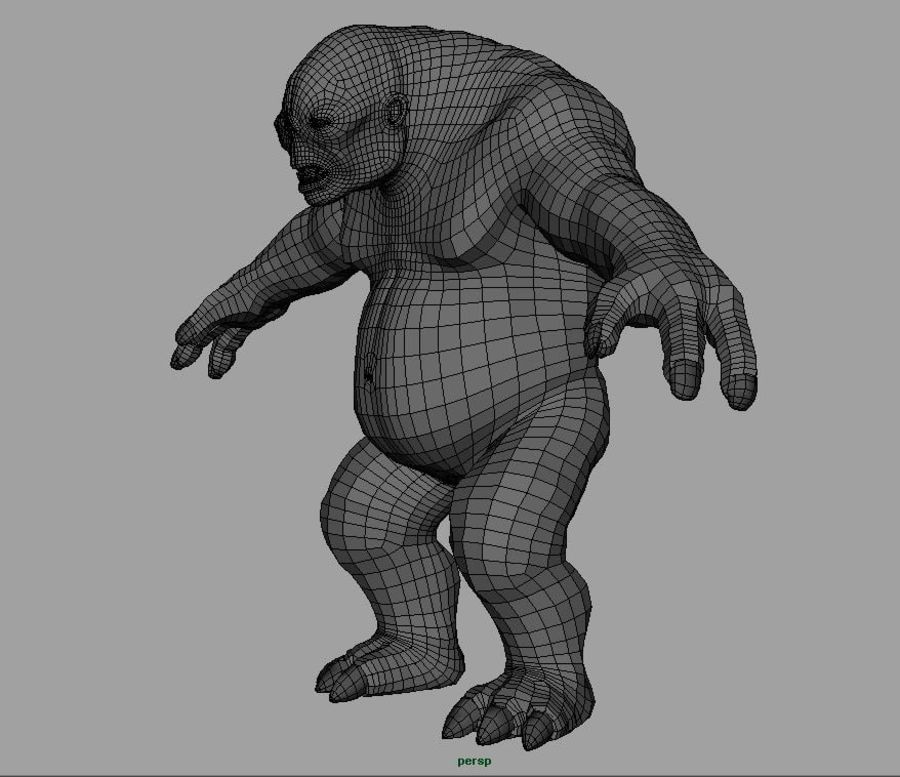 Jaskiniowy troll royalty-free 3d model - Preview no. 10