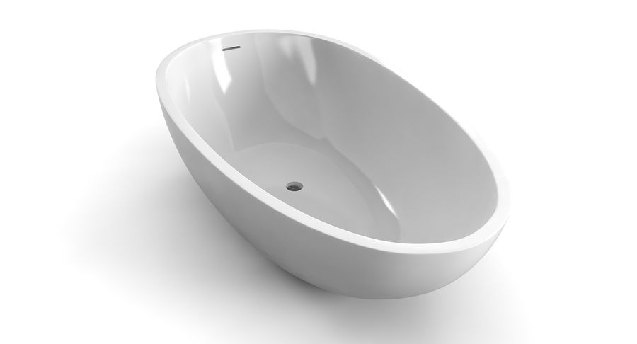 Wolnostojąca kąpiel Agape Spoon Xl royalty-free 3d model - Preview no. 3