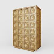 Gabinete de madera de Amberes modelo 3d