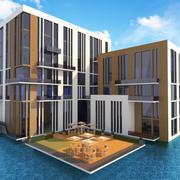 Einfaches Hotel 3d model